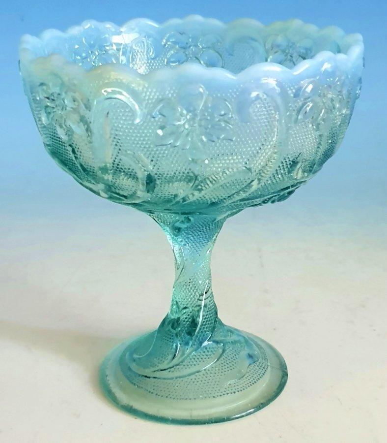 Zuckerschale Pressglas Jugendstil