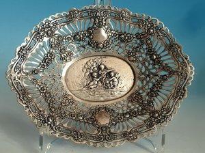Ovales Silberschälchen
