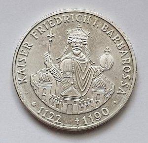 10 DM Gedenkmünze Kaiser Friedrich I. Barbarossa