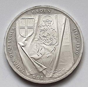 10 DM Gedenkmünze 800 Jahre Deutscher Orden