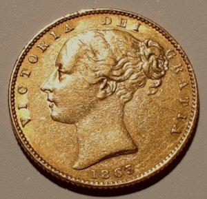 Goldmünze Queen Victoria 1863