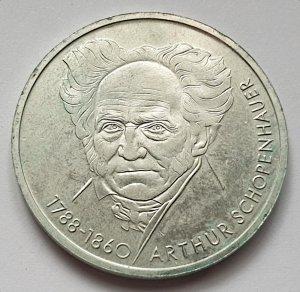 10 DM Gedenkmünze Arthur Schopenhauer