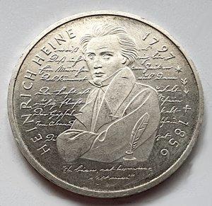 10 DM Gedenkmünze Heinrich Heine