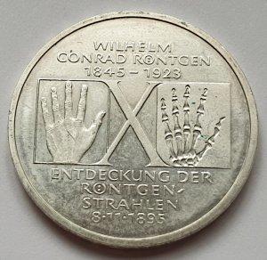 10 DM Gedenkmünze Wilhelm Conrad Röntgen